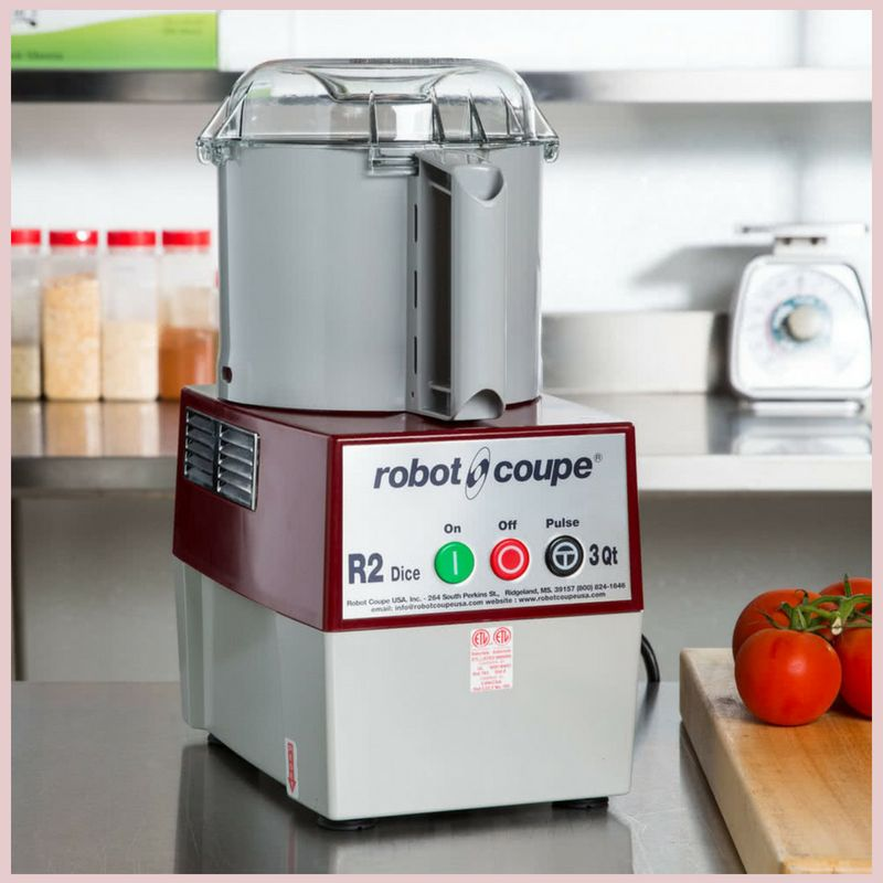 Robot Coupe R2 Dice Combination Continuous Feed Food Processor Dicer with 3 Qt. Gray Polycarbonate Bowl - 2 hp