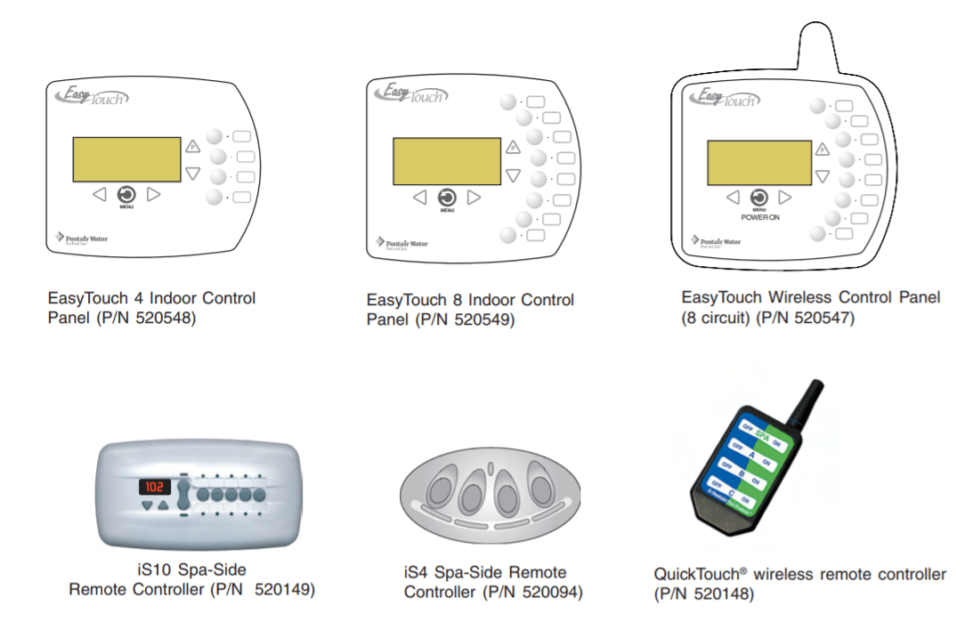 Easytouch control panel with wireless remote control